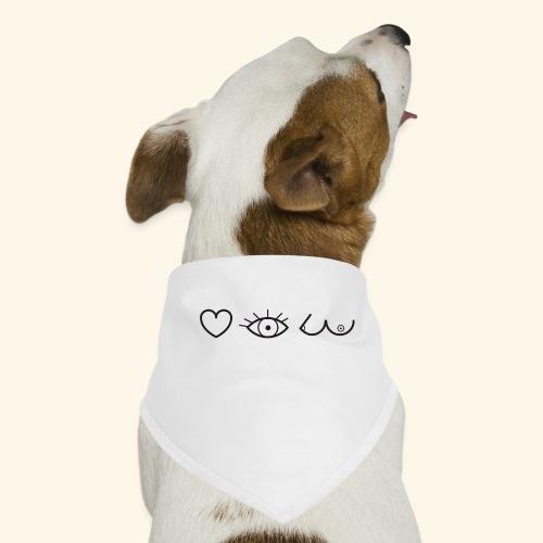 J'aimer regarder les filles - Bandana pour chien