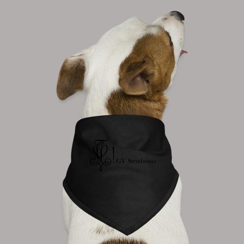 Zirkel mit Name, schwarz (vorne) - Hunde-Bandana