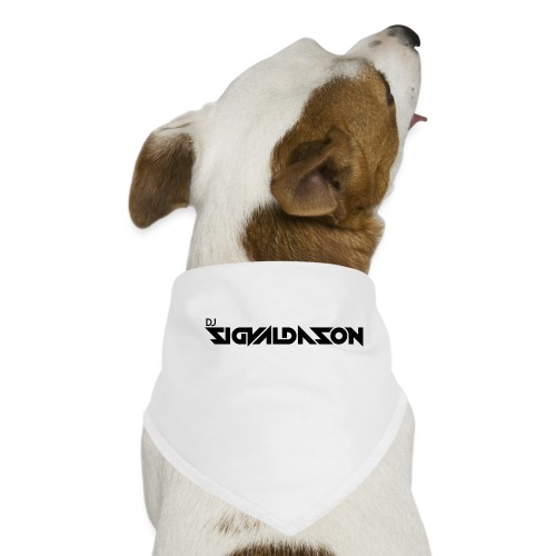 DJ logo sort - Bandana til din hund