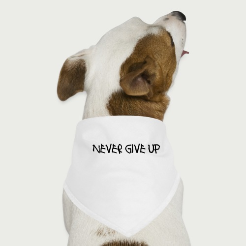 Never Give Up Font 2 - Dog Bandana