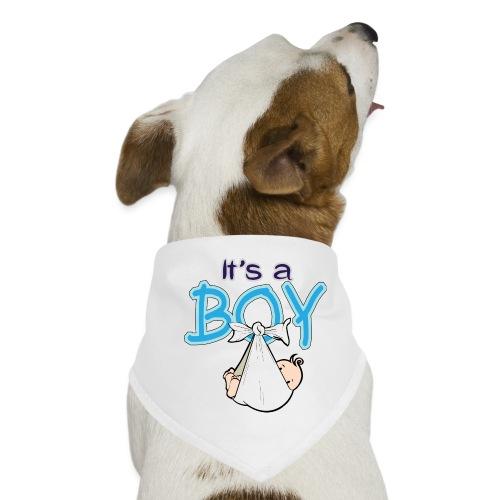 Babyshower Boy Blauw - Honden-bandana