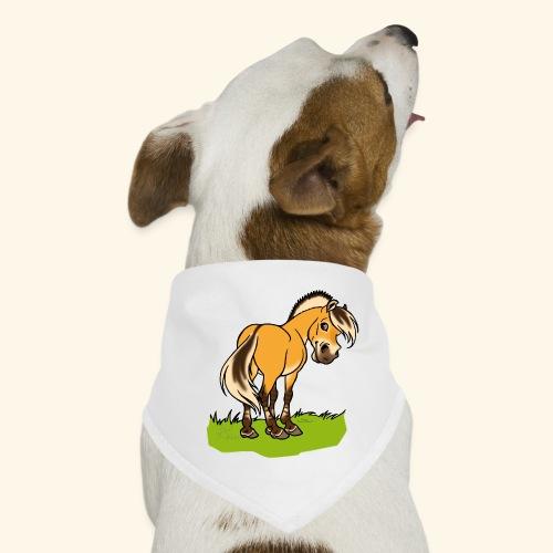 Freundliches Fjordpferd (Ohne Text) Weisse Umrisse - Bandana pour chien