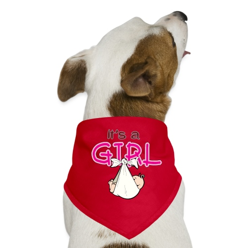 Babyshower It's a Girl - Honden-bandana