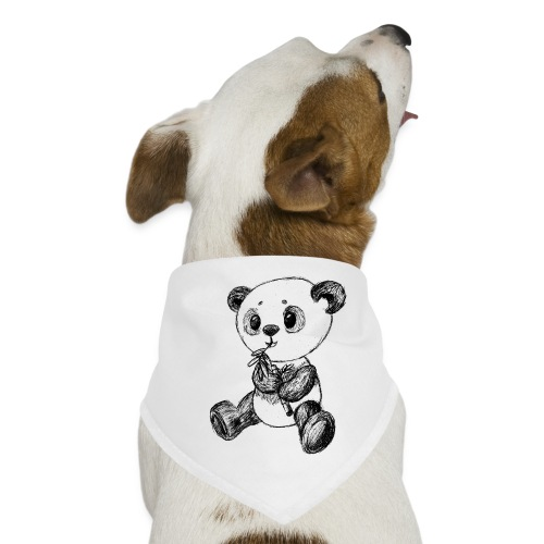 Panda bjørn sort scribblesirii - Bandana til din hund