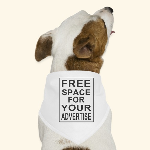 Free space for your advertise - Dog Bandana