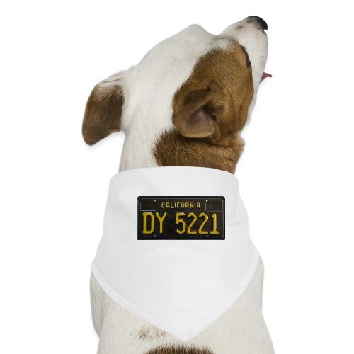 CALIFORNIA BLACK LICENCE PLATE - Dog Bandana