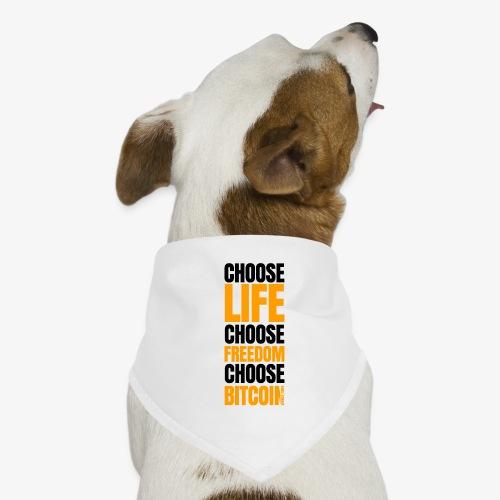 Logo choose bitcoin black 1 1 - Bandana pour chien