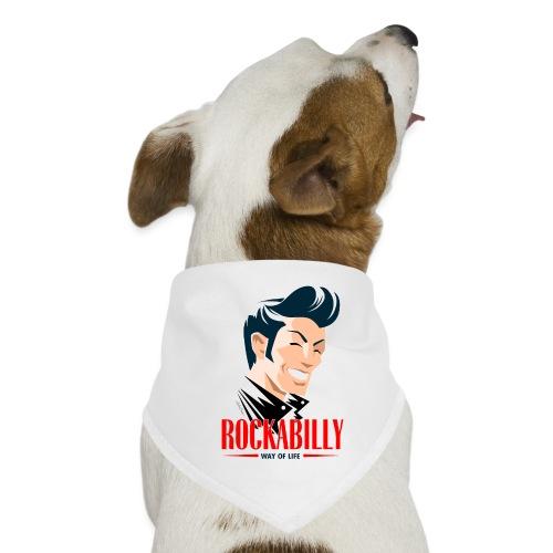 rockabilly face - Pañuelo bandana para perro