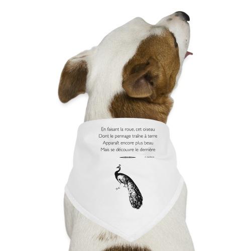 Le Paon d'Apollinaire - Bandana pour chien