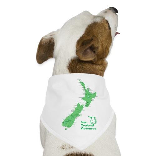 New Zealand's Map - Dog Bandana
