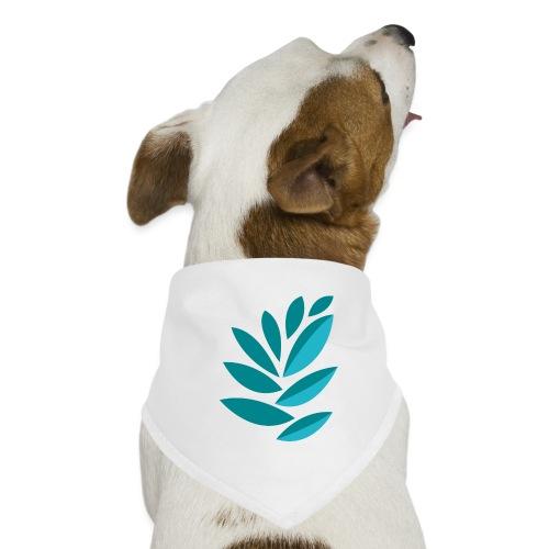 disegno foglie azzurre - Bandana per cani