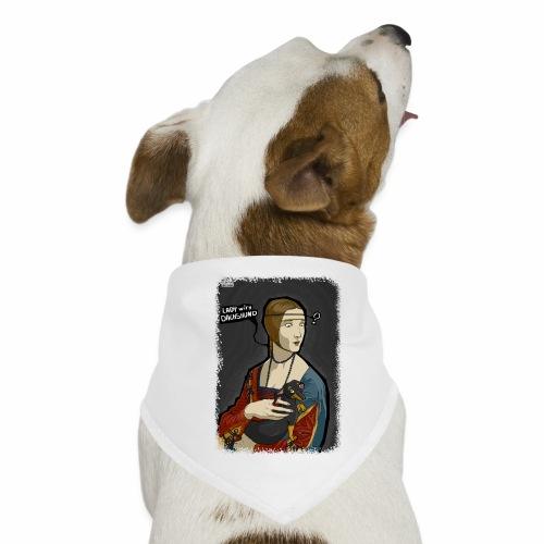 Lady with dachshund - Bandana dla psa