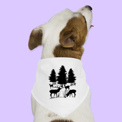Tiere im Wald, Hirsch, Reh, Rehe, Bäume, Hirsche - Hunde-Bandana