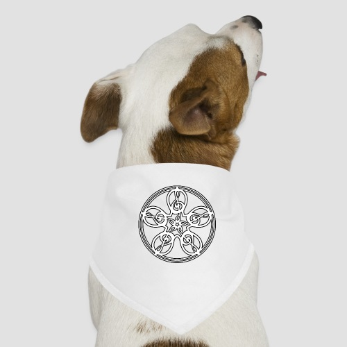 Treble Clef Mandala (white/black outline) - Dog Bandana