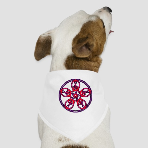 Treble Clef Mandala (red/violet/black) - Dog Bandana