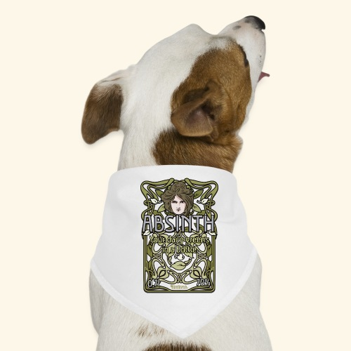 Absinth Your Daily Greens in a Bottle Art Nouveau - Hunde-Bandana