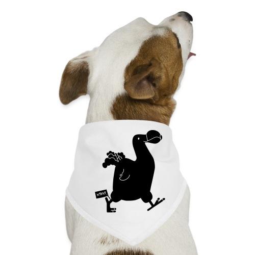 Hellgrau meliert Schwarz Seekuh - Riesenseekuh - Hunde-Bandana