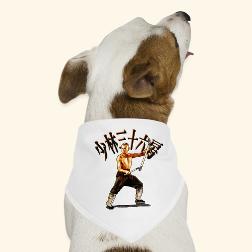 Shaolin Warrior Monk - 3 afdeling personale - Bandana til din hund