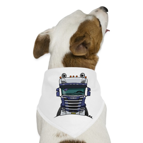 0814 S truck blauw wit - Honden-bandana