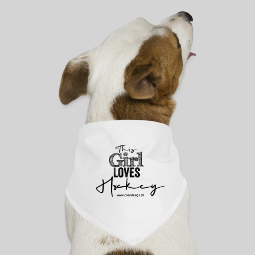 This Girl loves Hockey (black) - Hunde-Bandana