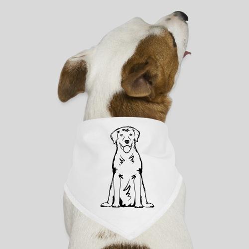 Labbi_sitzend_Front - Hunde-Bandana