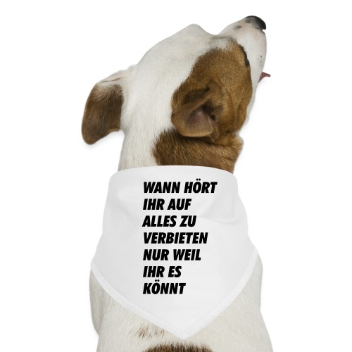 wanhoertihrauf - Hunde-Bandana