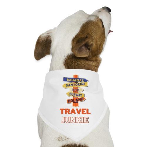 traveljunkie - i like to travel - Hunde-Bandana