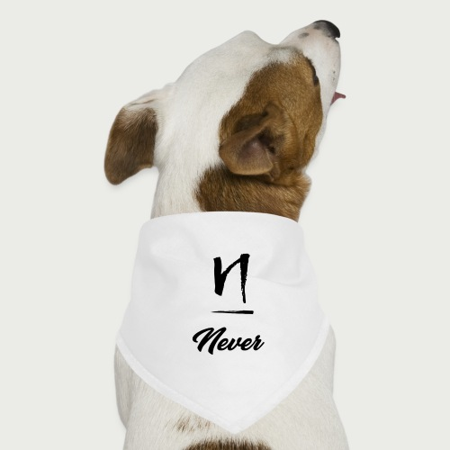 Never Design Version 2 - Dog Bandana
