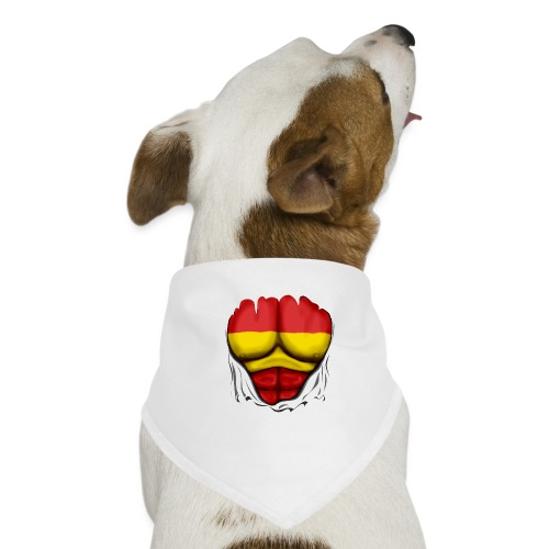 España Flag Ripped Muscles six pack chest t-shirt - Dog Bandana