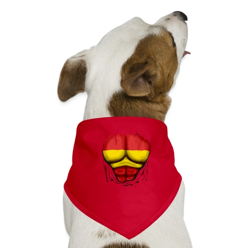 España Flag Ripped Muscles six pack chest t-shirt - Dog Bandana