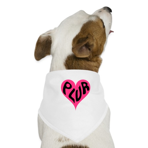 PLUR - Peace Love Unity and Respect love heart - Dog Bandana