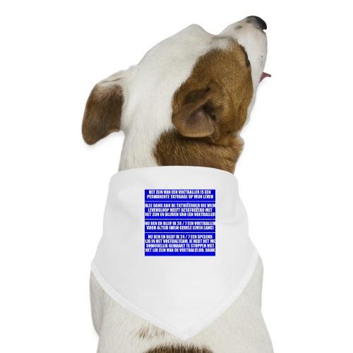 Voetballer Voor Altijd - Honden-bandana