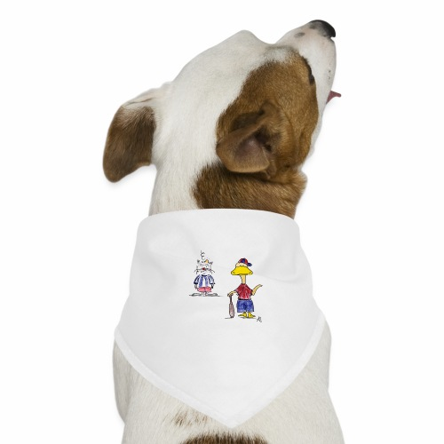 Cartoon Baseball - Hunde-Bandana