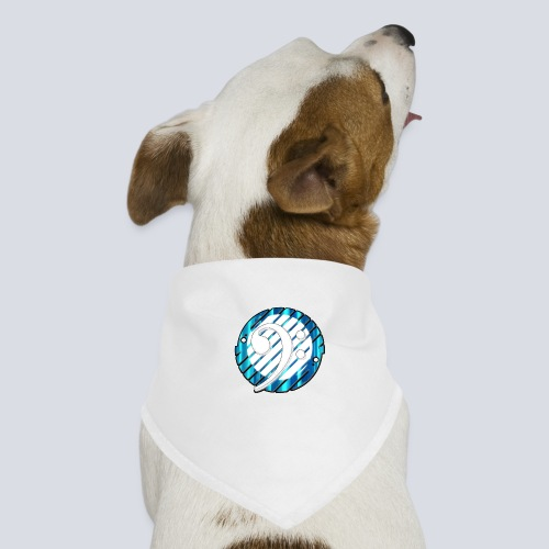 BassClef blue/white - Dog Bandana