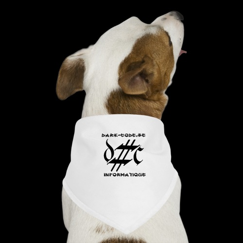 Dark-Code Black Gothic Logo - Bandana pour chien