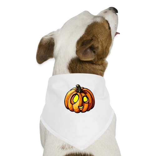 Pumpkin Halloween watercolor scribblesirii - Hunde-Bandana