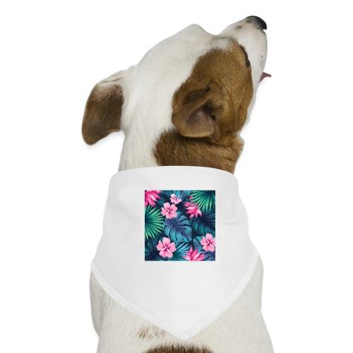 pattern, tropical, cool, funny, pretty, green, blu - Bandana per cani
