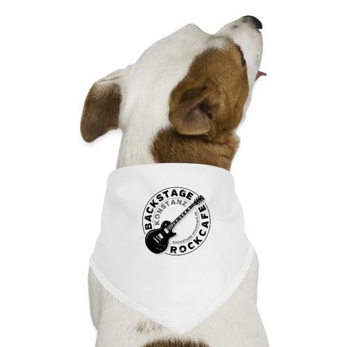 Backstage Logo einfach Schwarz - Hunde-Bandana