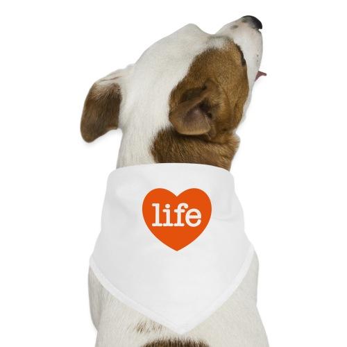 LOVE LIFE heart - Dog Bandana