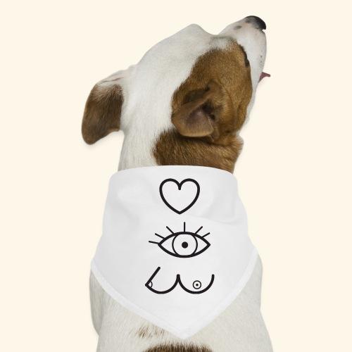 J'aime (regarder) les filles - Bandana pour chien