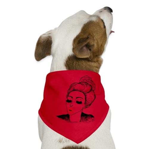 Vintage Retro Girl Kiss message - Dog Bandana