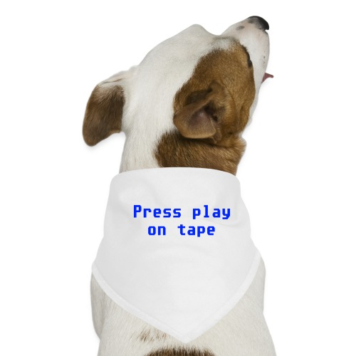 press play on tape blu - Bandana per cani