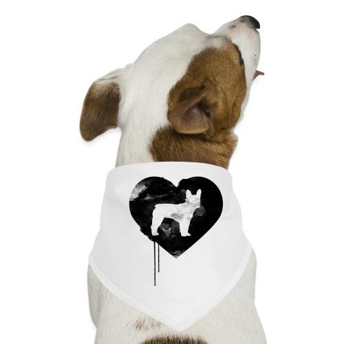 Französische Bulldogge Herz mit Silhouette - Hunde-Bandana