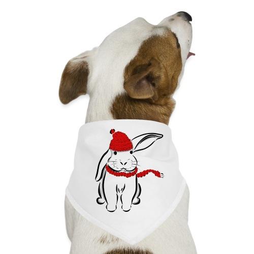 Kaninchen Hase Mütze Schal Schlappohr Schneehase - Hunde-Bandana