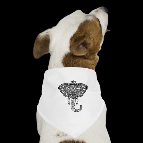Henna Elephant black - Dog Bandana