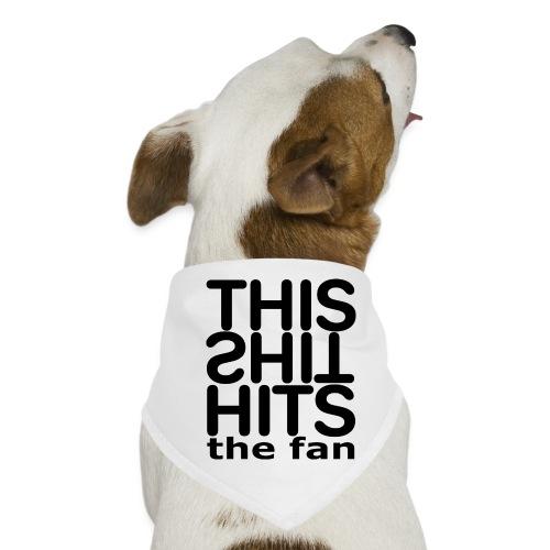 TSHTF BLACK - Pañuelo bandana para perro