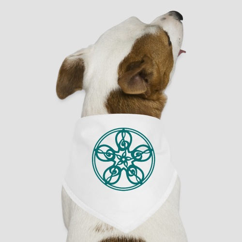 Treble Clef Mandala (teal) - Dog Bandana