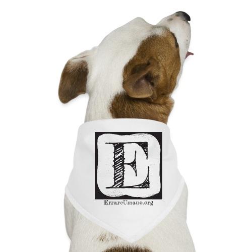 Logo ErrareUmano (scritta nera) - Bandana per cani