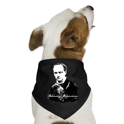 Baudelaire (fond blanc) + signature - Bandana pour chien