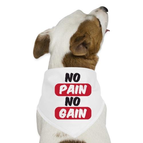 no pain no gain t shirt design fitness - Bandana per cani